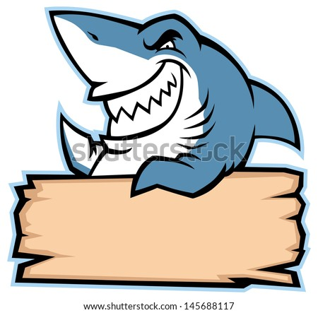 shark hold wood sign