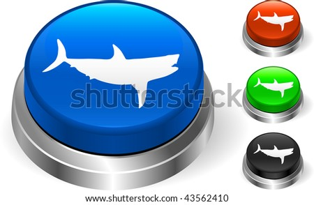 Shark icn on internet button Original Vector Illustration Three Dimensional Buttons