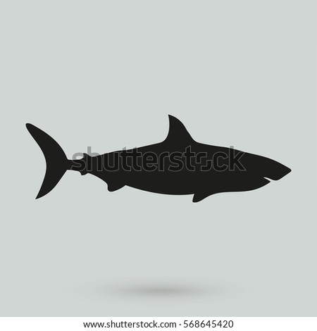 Shutterstock shark icon isolated on background. Modern flat pictogram, business, marketing, internet concept. Trendy Simple vector symbol for web site design or button to mobile app. Logo illustration