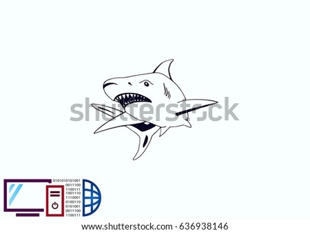shark icon vector illustration