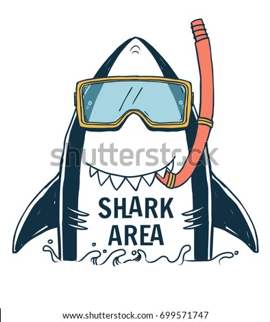 shark illustration with typo