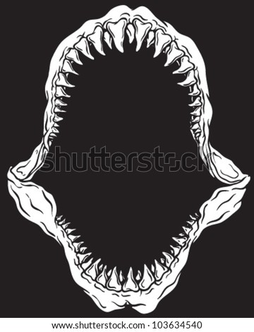 Shark Jaw Isolated On Black