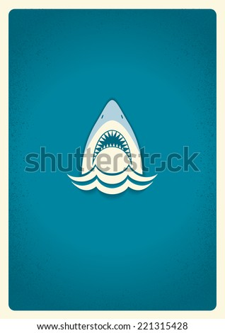 shark jaws logovector blue