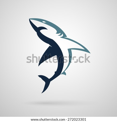 shark logo on a white background