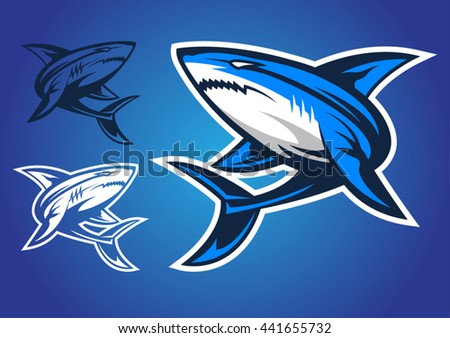 shark logo vector emblem