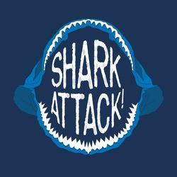Shark mouth illustration, typography, t-shirt graphics, vectors