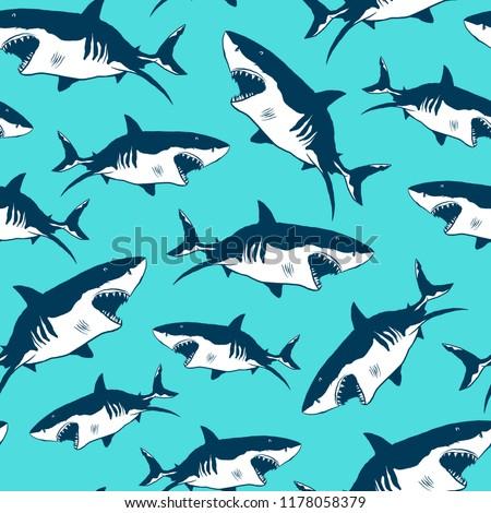 shark print pattern seamless
