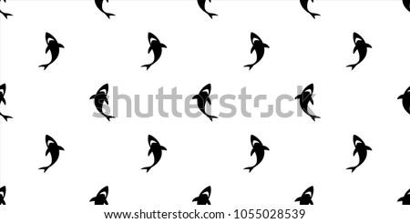 shark seamless pattern fin