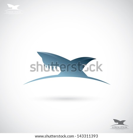 shark sign   vector illustration