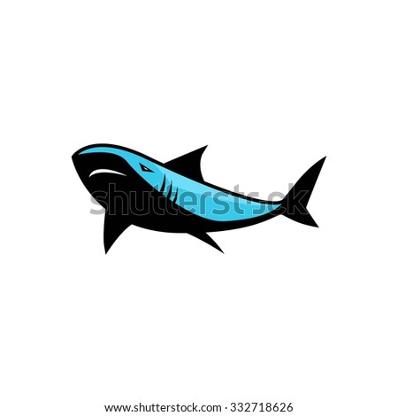 shark sport vector template