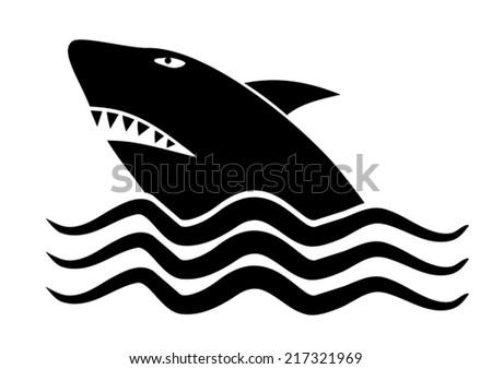 Shark symbol Stock photo ©