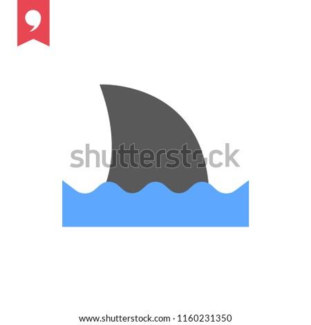 shark tale vector icon