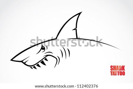 Shark tattoo - vector illustration