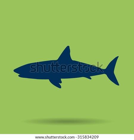 shark vector icon