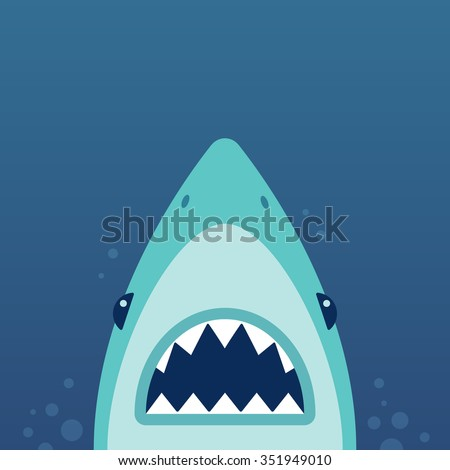 shark with open jaws and sharp