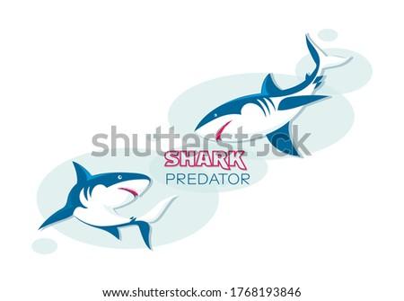 sharks underwater sketch