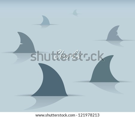 sharks   vector illustration