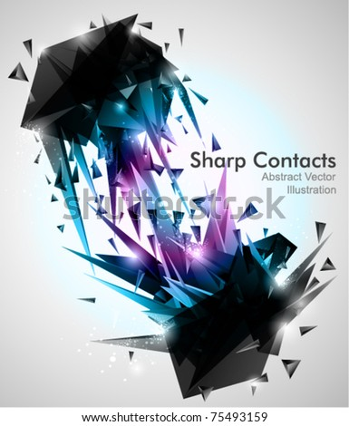 sharp contacts  3d abstract