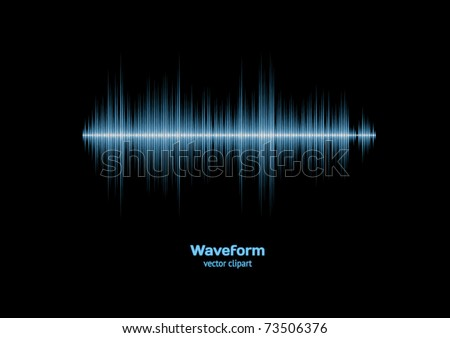 Sharp cool blue waveform - stock vector