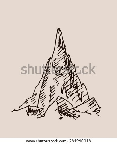 sharp pointy mountain scenery