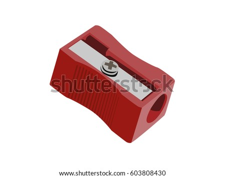 Sharpener vector red