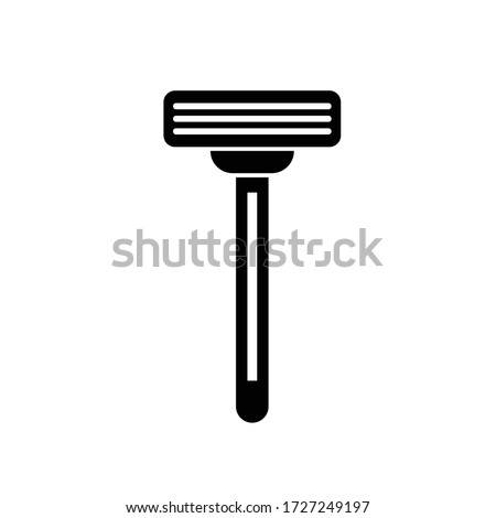 shaving razor blade vector icon