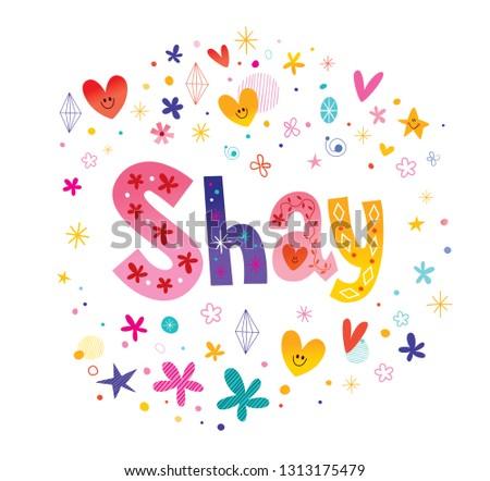 shay girls name decorative