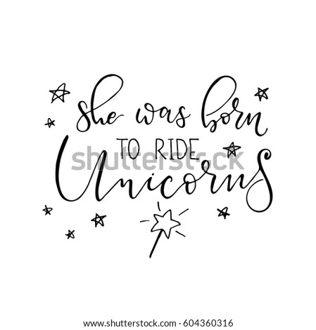 she was born ride unicorns
