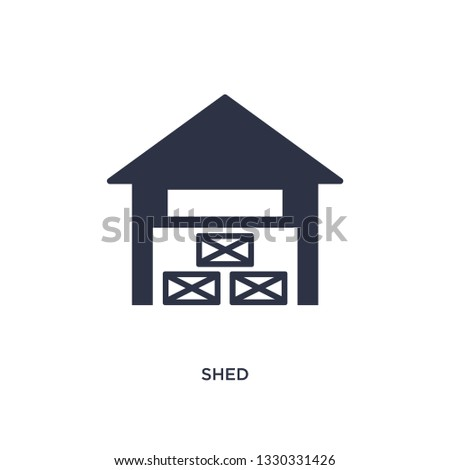 shed icon simple element