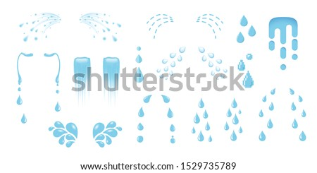Shedding tears, tear streams, tears drops flows, crying, weeping, sobbing or mourning vector illustrations in various styles, a set cartoon cry icons isolated on white