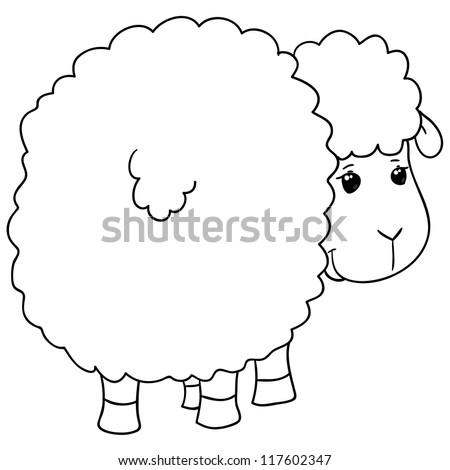 sheep, coloring