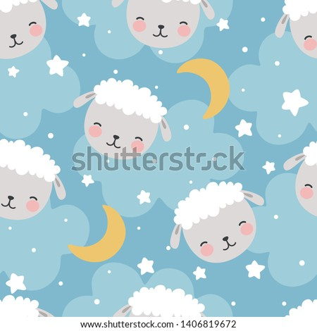 sheep seamless pattern with