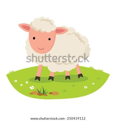 sheep smiling cheerful sheep