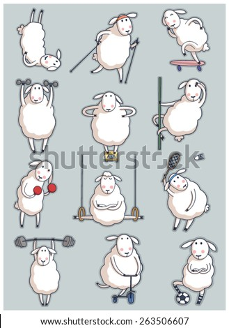 sheep sport set