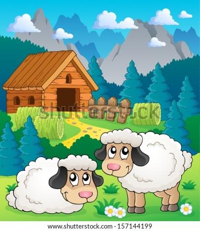 sheep theme image 2   eps10