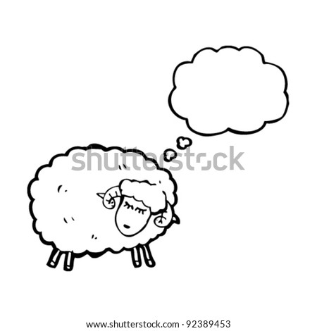 sheep with thought balloon