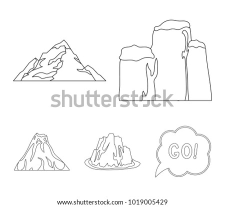 Free volcano logo collection vectors from vecteezy sheer cliffs a volcanic eruption a mountain with a beach a glacier pronofoot35fo Images