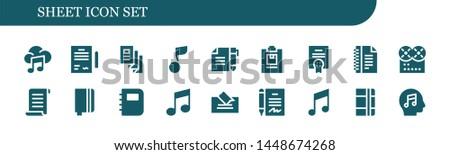 sheet icon set 18 filled sheet