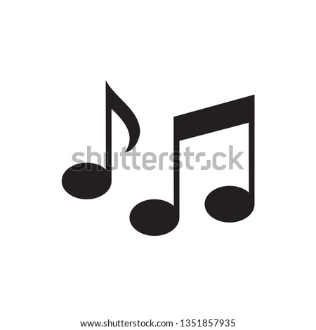 Sheet music Icon in trendy flat style isolated on  background. Note symbol for web - site design, app, UI. Vector illustration