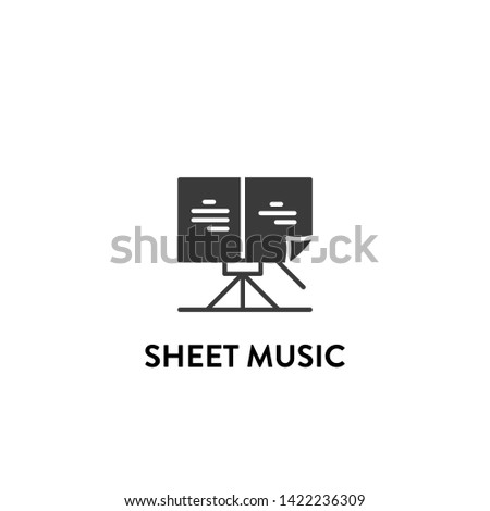 sheet music icon vector. sheet music vector graphic illustration