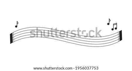 Sheet Music, Music Notes, Music Notes Icon, Musician Logo, Music Class, Line Paper, Musical Notes, Vector Illustration Background