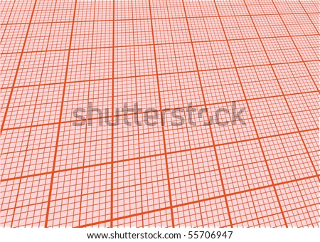 sheet of graph paper with perspective