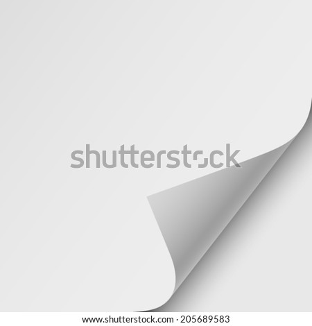 sheet of paper, realistic vector illustration
