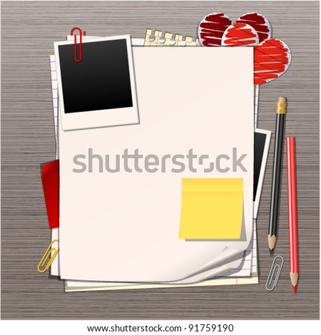 sheets of paper vector