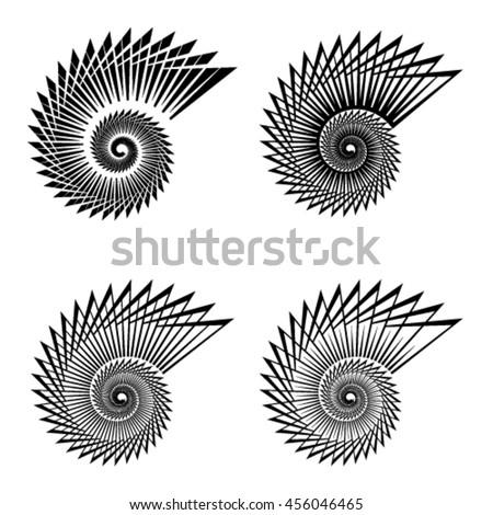 shell black line symbol vector