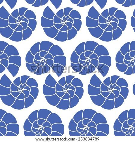 shell blue vector on white
