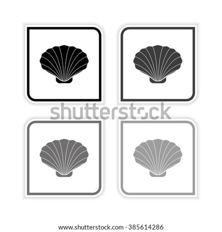 shell    grayscale vector icon