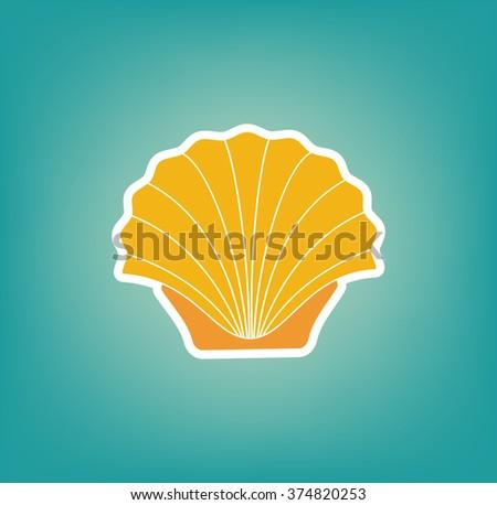 Shell Icon. Vector Illustration