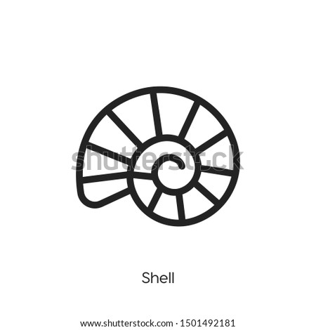 shell icon vector. shell symbol. Modern style sign for mobile concept and web design. shell symbol illustration.