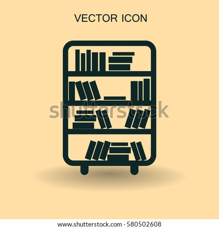 shelves with books vector...